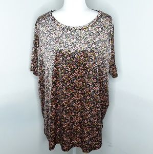 Old Navy plus size floral short sleeve top 2X